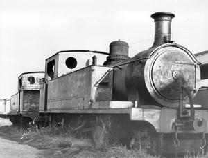 Railways: Steam Trains/ County Donegal engine at Strabane after closure of the line.   10/12/1969