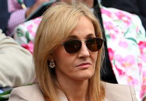 LONDON, ENGLAND - JUNE 25:  J.K. Rowling watches the Ladies' Singles first round match between Serena Williams of the United States of America and Mandy Minella of Luxembourg on day two of the Wimbledon Lawn Tennis Championships at the All England Lawn Tennis and Croquet Club on June 25, 2013 in London, England.  (Photo by Julian Finney/Getty Images)
