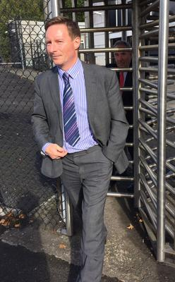 Dr Mark McClure leaves Lisburn court