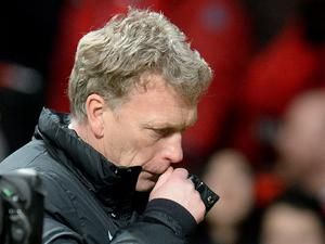 Manchester United manager David Moyes leaves the pitch after the Barclays Premier League match at Old Trafford, Manchester.