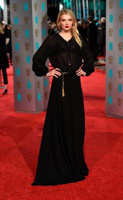 Lily Donaldson attends the EE British Academy Film Awards at the Royal Opera House on February 14, 2016 in London, England.  (Photo by Ian Gavan/Getty Images)