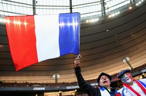 France fans show their support during the RBS Six Nations match between France and Ireland at Stade de France on March 15, 2014 in Paris, France.  (Photo by Julian Finney/Getty Images)