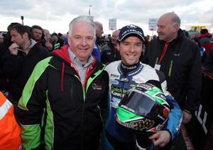 ?Press Eye Ltd Northern Ireland 16th March 2013 - Mandatory Credit - Picture by Matt Mackey/presseye.com  The Vauxhall International 2013 North West 200 road races. Livewire AV superstock race. Race winner Alastair Seeley with his Dad Joe.