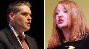 The DUP's Gavin Robinson is fighting to win back the East Belfast Westminster seat from Alliance MP Naomi Long