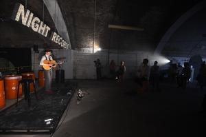One Night Records, the UK's first socially distanced immersive live music venue event, opened at London Bridge (Kirsty O'Connor/PA)