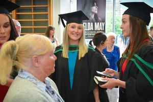 Laura Gillen from Derry graduating in Physiotherapy, pictured at the Ulster University Summer Graduation at the Waterfront Hall in Belfast. Photo by Aaron McCracken