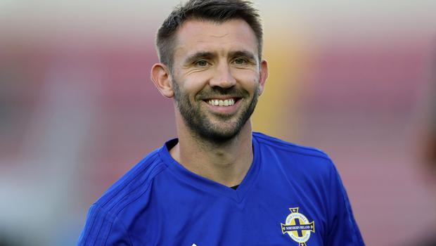 Press Eye - Belfast -  Northern Ireland - 28th May 2018 - Photo by William Cherry/Presseye  Northern Ireland's Gareth McAuley during Monday evenings training session at the Estadio Rommel Fernandez, Panama City.