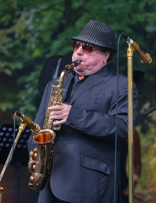 Picture -  Kevin Scott / Belfast Telegraph  Belfast - Northern Ireland - Monday 31st August 2015 - Van Morrison birthday concert  Pictured is Van Morrison as he performs at his birthday concert in Cyprus Avenue, East Belfast  Picture - Kevin Scott / Belfast Telegraph
