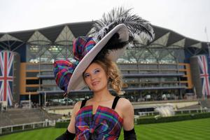 Mimi Theobald arrives for Ladies' Day of the Royal Ascot meeting at Ascot Racecourse, Berkshire. PRESS ASSOCIATION Photo. Picture date: Thursday June 20, 2013. See PA story RACING Ascot. Photo credit should read: Tim Ireland/PA Wire