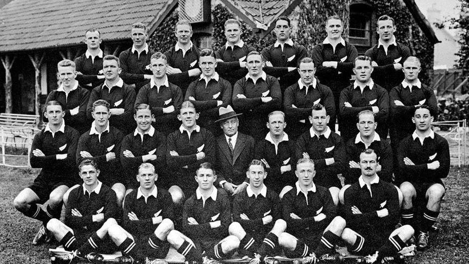 The All Blacks side of 1935.