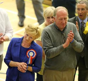 PressEye-Northern Ireland- 8th June 2017-Picture by Brian Little/PressEye  Lady Sylvia Hermon (Independent) winner of North Down  during the  2017 Westminster Election  count at Aurora Leisure Complex, Bangor.  Picture by Brian Little/PressEye