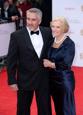 Paul Hollywood and Mary Berry arriving for the 2013 Arqiva British Academy Television Awards at the Royal Festival Hall, London. PRESS ASSOCIATION Photo. Picture date: Sunday May 12, 2013. See PA story SHOWBIZ Bafta. Photo credit should read: Dominic Lipinski/PA Wire