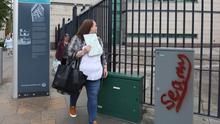 Christine Connor pictured arriving at Belfast Crown Court on Wednesday. Photo by Press Eye.