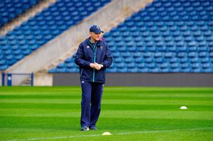 Ireland's New Zealand-born Irish coach Joe Schmidt attends the captain's run training session at Murrayfield Stadium in Edinburgh, on February 3, 2017, on the eve of the Six Nations rugby union match between Scotland and Ireland.  / AFP PHOTO / Andy BuchananANDY BUCHANAN/AFP/Getty Images
