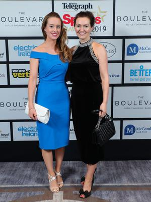 Press Eye - Belfast - Northern Ireland - 20th January  2020   Caroline and Ellen Woods  pictured at the 2019 Belfast Telegraph Sport Awards at the Crowne Plaza Hotel in Belfast.  Photo by Kelvin Boyes / Press Eye.