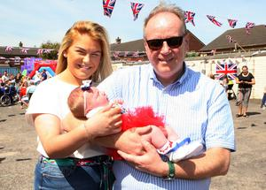 Mandatory Credit - Picture by Freddie Parkinson/Press Eye © Saturday 19 May 2018 Linfield Supporters Social Club, 1 Jumna Street, Belfast. Community First Wedding Party. Taylor Miscandlon andLittle Ariyah Martin only 4 weeks old and her Uncle William Humphrey M L A