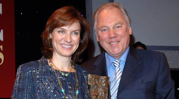 Fiona Bruce said Peter Sissons was 'one of the loveliest men in broadcasting' (Steve Parsons/PA)