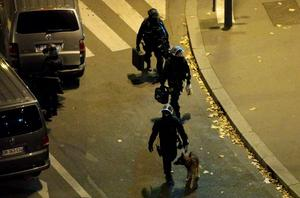 "Police cordon off a street near the cafe La Bonne Biere following several attacks in the French capital Paris, on November 13, 2015. Over 100 people were killed and many injured  in an ""unprecedented"" series of bombings and shootings across the capital. AFP PHOTO / KENZO TRIBOUILLARDKENZO TRIBOUILLARD/AFP/Getty Images"