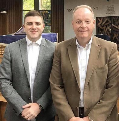 New DUP councillor Dean McCullough (left) with DUP MLA William Humphrey