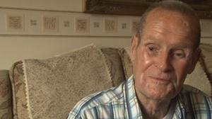 Eddie Spence was just 19 when he landed on the beaches of Normandy in 1944. Credit: BBC