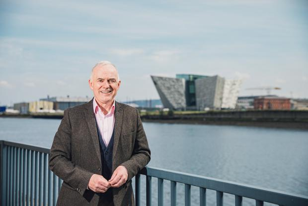 Frank Mitchell photographed at Clarendon Dock. Photo by Kevin Scott for Belfast Telegraph