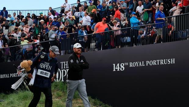 PORTRUSH, NORTHERN IRELAND - JULY 20: J.B. Holmes of the United States walks onto the first tee during the third round of the 148th Open Championship held on the Dunluce Links at Royal Portrush Golf Club on July 20, 2019 in Portrush, United Kingdom. (Photo by Mike Ehrmann/Getty Images)