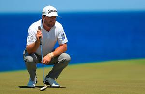 PUNTA CANA, DOMINICAN REPUBLIC - MARCH 31: Graeme McDowell of Northern Ireland lines up a putt on the ninth green during the final round of the Corales Puntacana Resort & Club Championship on March 31, 2019 in Punta Cana, Dominican Republic. (Photo by Mike Ehrmann/Getty Images)