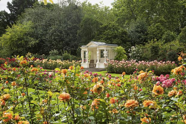 The Rose Garden and summer house in the Buckingham Palace garden (John Campbell/Royal Collection Trust/PA)