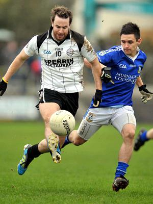 Battle hardened: Connor O'Donnell (left) is expecting a real dogfight for Omagh against Slaughtneil