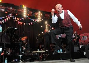 Sir Bruce Forsyth performing on the Avalon stage at the Glastonbury 2013 Festival. Anthony Devlin/PA Wire