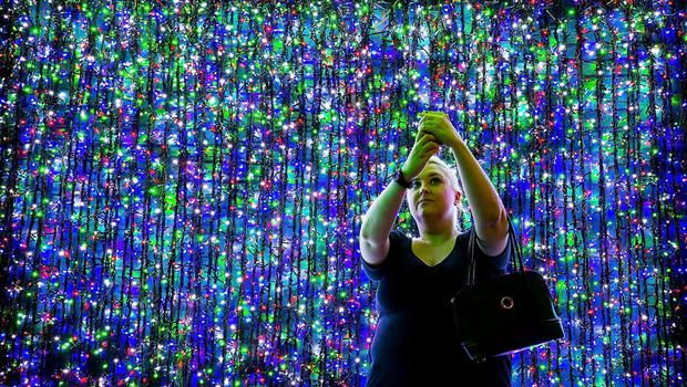 Over one million lights have been set up in Canberra's CBD officially breaking the Guinness World Record for the largest LED image display on November 29, 2014 in Canberra, Australia. The display will raise money for SIDS and Kids ACT and will be open for viewing for the christmas period. (Photo by Stefan Postles/Getty Images)