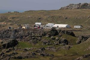Crews at the Millennium Falcon site. Picture James Whorriskey