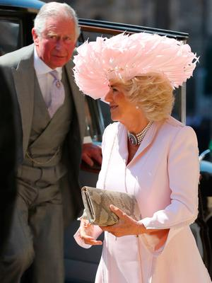 The Prince of Wales and Duchess of Cornwall arrive at St George's Chapel at Windsor Castle for the wedding of Meghan Markle and Prince Harry. PRESS ASSOCIATION Photo. Picture date: Saturday May 19, 2018. See PA story ROYAL Wedding. Photo credit should read: Gareth Fuller/PA Wire