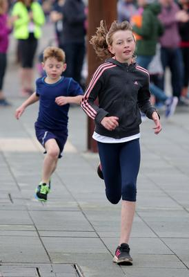 Press Eye Belfast - Northern Ireland 10th September 2017  Pure Running's and The Belfast Telegraph's RunHer Titanic 5k and 10k race in the Titanic Quarter of Belfast.   The children's fun run take place   Picture by Jonathan Porter/PressEye.com