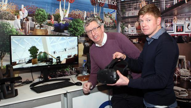 Mandatory Credit - Picture by Freddie Parkinson © Friday 18 January 2019 Belfast Telegraph Holiday World Show, Titanic Exhibition Centre, Belfast. Oasis Travel Experience Robert Cameron and Neil Webb