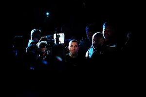 Scott Quigg enters the ring prior to the World Super-Bantamweight title contest against Carl Frampton at Manchester Arena on February 27, 2016 in Manchester, England.  (Photo by Alex Livesey/Getty Images)
