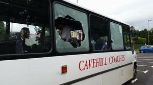 The bus that was attacked