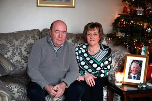 Legacy: Colin and Eithne Bell with photo of Kevin, who the charity is named after