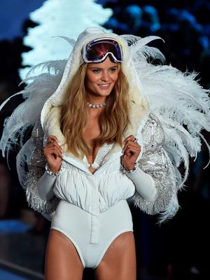 Model and New Victoria's Secret Angel Kate Grigorieva from Russia presents a creation during the 2015 Victoria's Secret Fashion Show in New York on November 10, 2015. AFP PHOTO/JEWEL SAMADJEWEL SAMAD/AFP/Getty Images