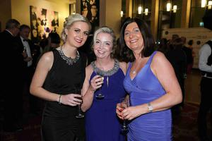 Press Eye - Belfast - Northern Ireland - 12th November 2014   Pub of the Year Awards  Jordan Busby, Felicity Stanfield and Vivian Busby from JD Tippler  Picture by Kelvin Boyes / Press Eye.