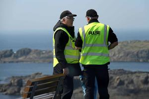 Private Security posted at public vantage points in Malin Head attempt to prevent photography. Picture James Whorriskey