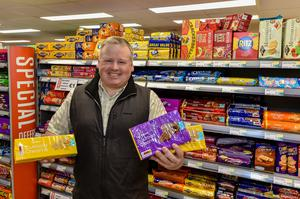 Edward Coyle in his Centra store in Raphoe