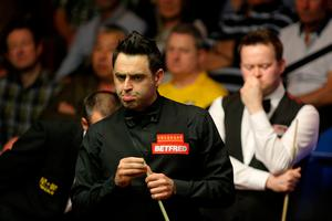 On top: Ronnie O'Sullivan in control last night at Crucible