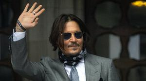 Actor Johnny Depp arrives at the High Court in London to give evidence in his libel case against the publishers of The Sun and its executive editor, Dan Wootton (Victoria Jones/PA)