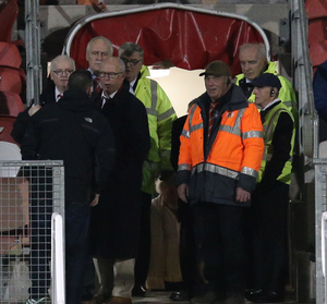 Backlash: Portadown officials were targets of verbal abuse from supporters