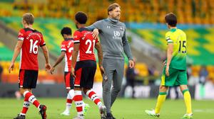 Southampton manager Ralph Hasenhuttl saw his side beat Norwich last time out (Richard Heathcote/NMC Pool/PA).