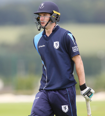 In form: George Dockrell warmed up for Ireland's ODI against the West Indies with 50 runs and three wickets for Leinster