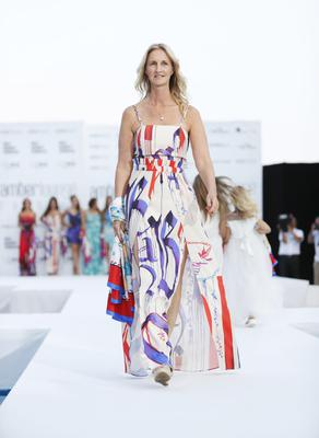 Sonia Irvine walks the runway at the Amber Lounge Fashion Monaco 2017 at Le Meridien Beach Plaza Hotel on May 26, 2017 in Monaco, Monaco.  (Photo by David M Benett/Dave Benett/Getty Images)