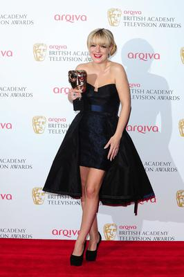 Sheridan Smith the award for Best Leading Actress at the 2013 Arqiva British Academy Television Awards at the Royal Festival Hall, London. PRESS ASSOCIATION Photo. Picture date: Sunday May 12, 2013. See PA story SHOWBIZ Bafta. Photo credit should read: Ian West/PA Wire