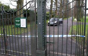 Press Eye - Belfast - Northern Ireland - 8th January 2016   Picture by  Press Eye   man's body was found in Lurgan Park in Lurgan on Friday morning. Police say they are treating his death as suspicious.  The man has not yet been identified. Police are investigating the circumstances of his death Lurgan Park